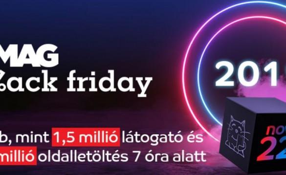 eMAG Black Friday: több mint 1,5 millió látogató és 20 millió oldalletöltés 7 óra alatt